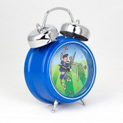 Blue football personalised clock 600x600