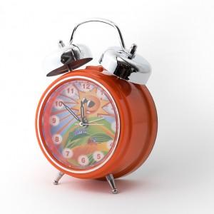 Orange-Clock-3-quarter-300x300 Personalised Children's Alarm Clocks